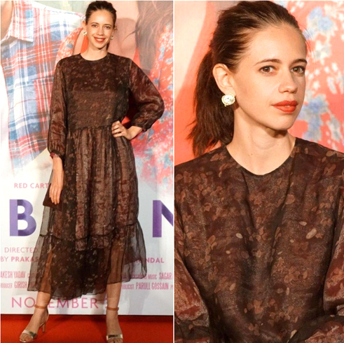 Kalki Koechlin's Printed Brown Dress