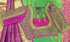 Latest Designer Saree Blouse Designs For Pattu Saree