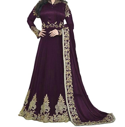Long Anarkali Suit Semi-Stitched Suit