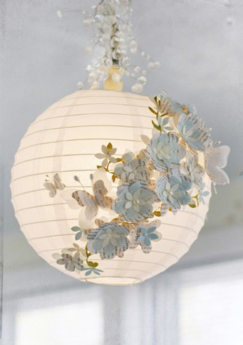 Lovely White Paper Lamp