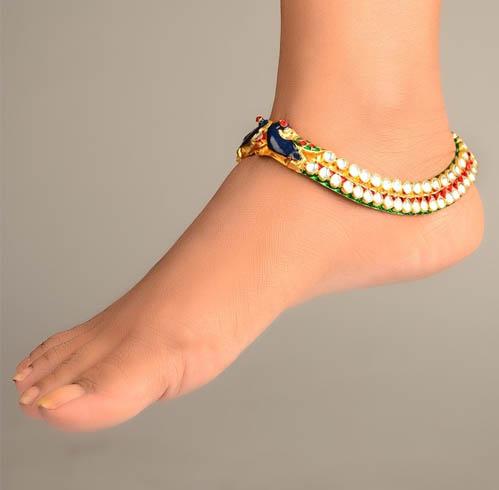 Meenakari Ankles