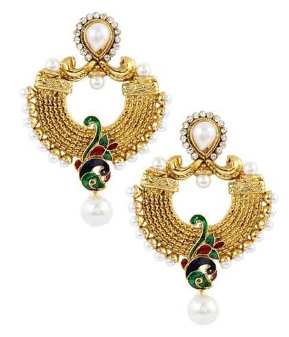 Meenakari jewellery in gold