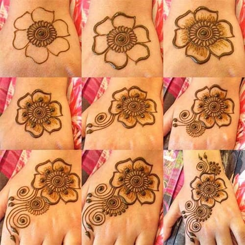 32 Simple Mehndi Designs For Beginners Step By Step,Easy Simple Mehndi Designs For Beginners Back Hand