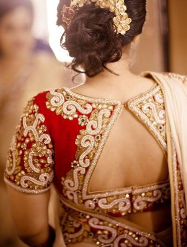 Multi-colored blouse design for pattu sarees