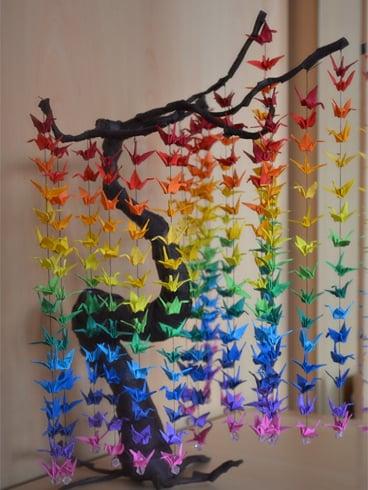 Paper Crane Curtain
