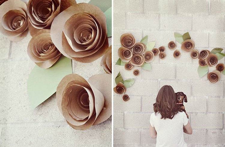 Paper Rose Wall Decor