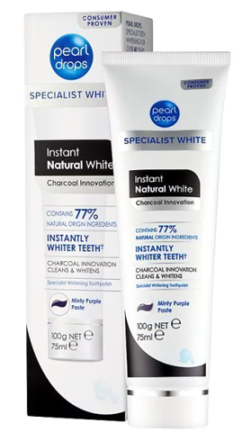 Pearl Drops Instant Natural White Charcoal Innovation Toothpaste