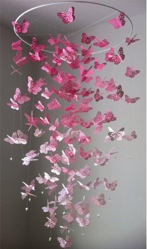 Pink Butterfly Chandelier