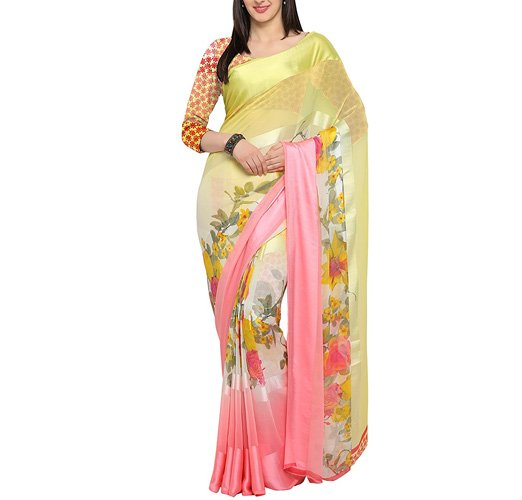 Womens Georgette Saree with Blouse