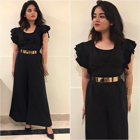 Zaira Wasim Black Outfit