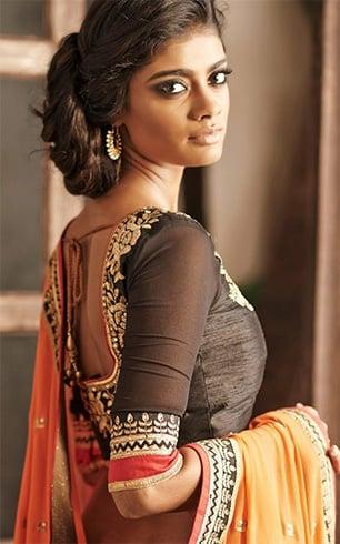 Zari work blouse designs for pattu sarees