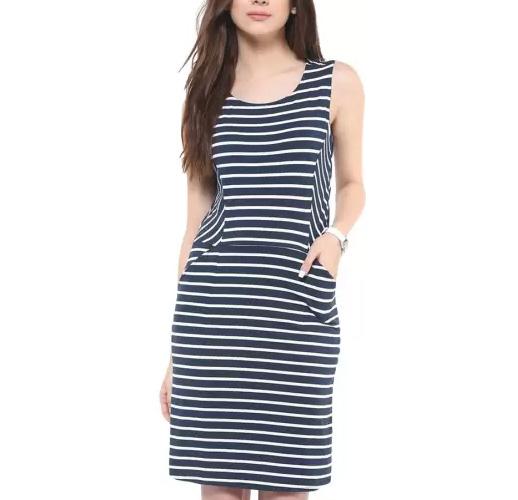 Zimaleto Womens Jersey Blue Dress