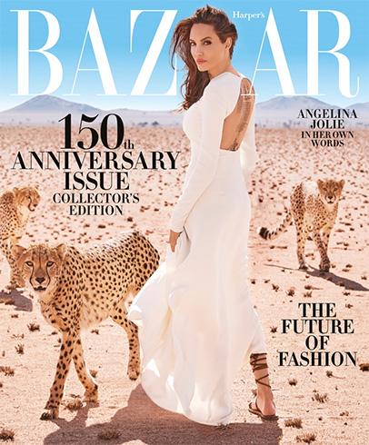 Angelina Jolie for Harper's Bazaar US