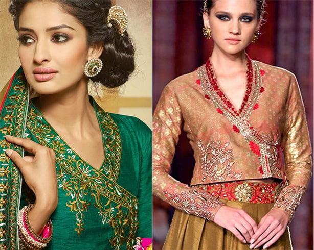 Angrakha Styled Blouse