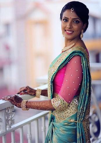 contrast blouses for pattu sarees