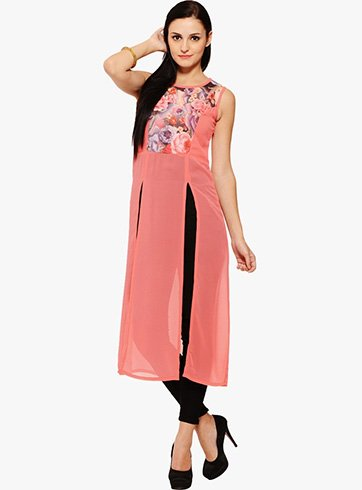 Front Open Long Kurtis Design