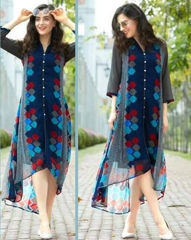 High-Low Pakistani Designer Kurtis