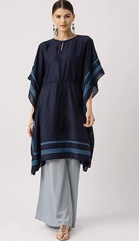 Kaftan Shaped Pakistani Designer Kurtis