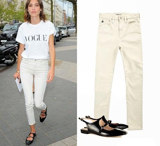 Khaki Skinny Jeans for Womens