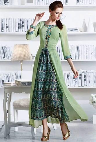 pakistani designer kurtis with different cuts