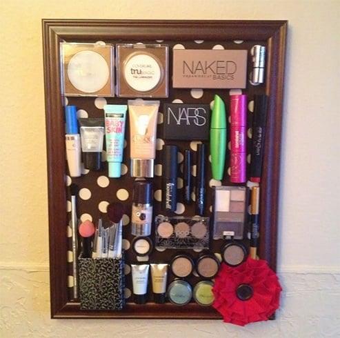 DIY Cosmetic Organizer