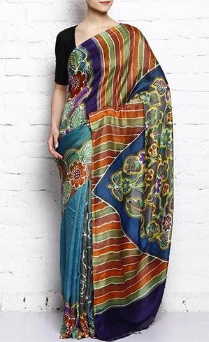 Muga Silk Sari