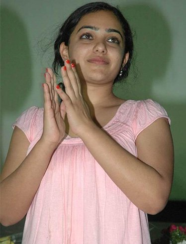 Nithya Menen without Makeup at South Indian Film Event