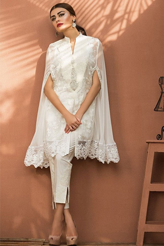 Overlay Styled Pakistani Designer Kurtis