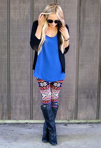Oversized Cardigan with your Printed Leggings