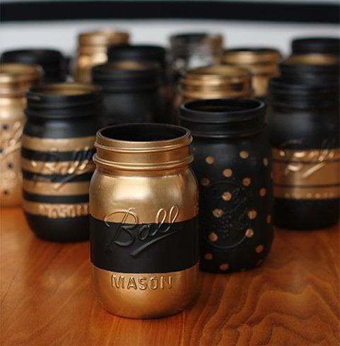 Painted Mason Jar Storage Ideas