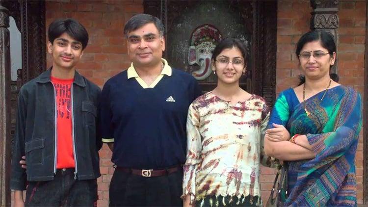 Sriti Jha Family