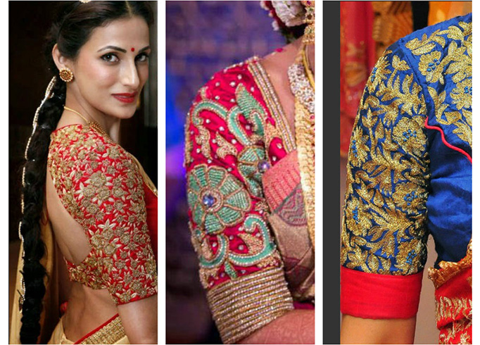 Wedding blouse designs for pattu sarees
