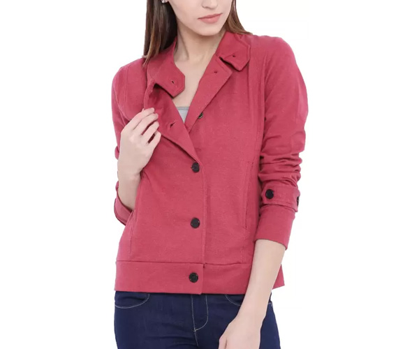 Campus Sutra Full Sleeve Solid Women Jackets