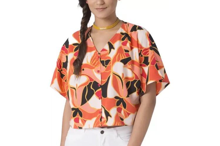 Chumbak Casual Kimono Sleeve Printed Womens Multicolor Top