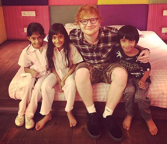 Ed Sheeran with Kids