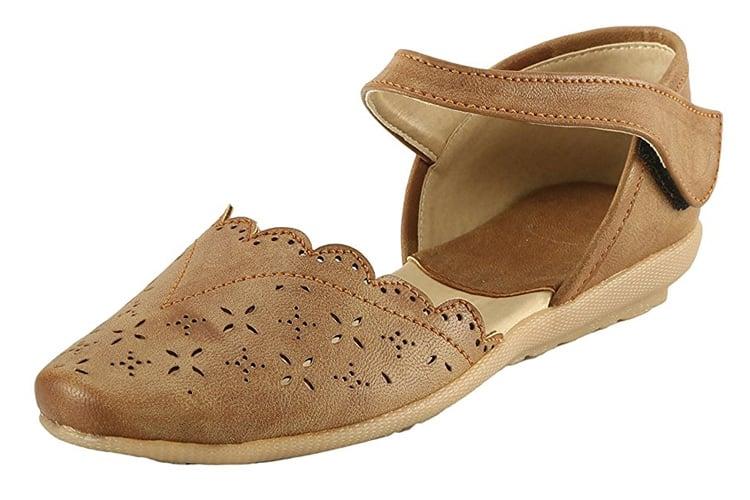 Meriggiare Women Brown Synthetic Flats
