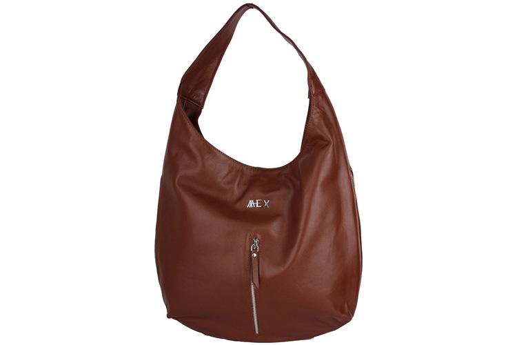 Mex Women Brown Leather Hobo Bag