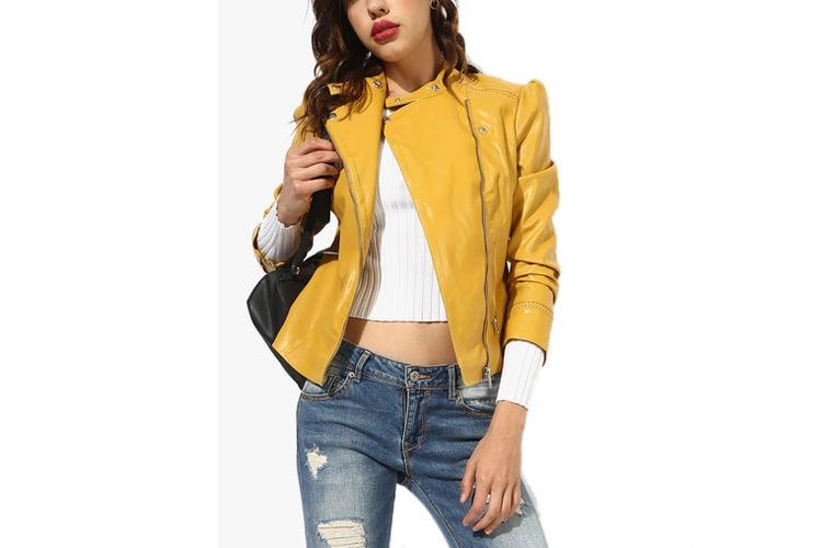 Mustard Yellow Solid Winter Jacket