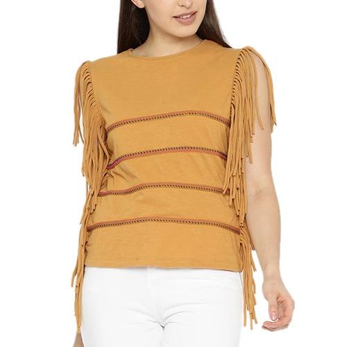 Mustard Yellow Striped Blouse
