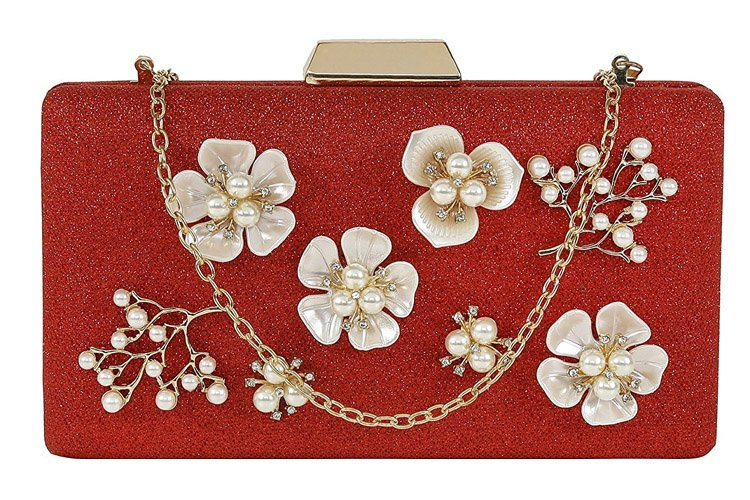 Wedding Box Clutch with Sling For Women