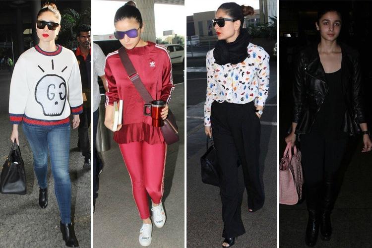 Alia Bhatt And Kareena Kapoor at Airport Fashion