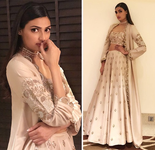 Athiya Shetty in Payal Singhal outfit