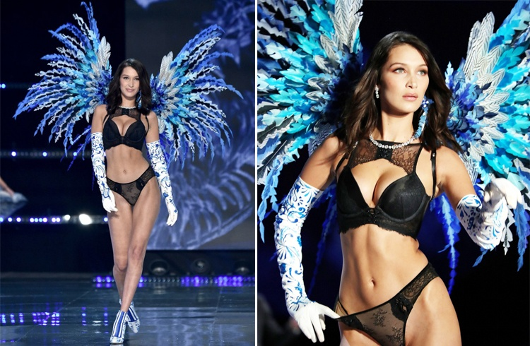 Bella Hadid at Victoria Secret Show 2017