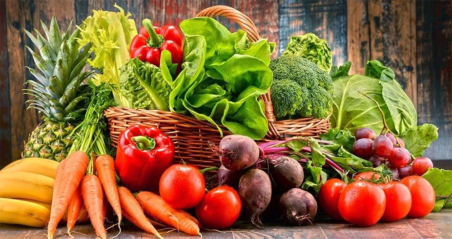 Fresh veggies and fruits