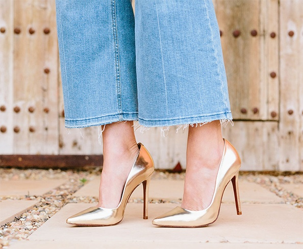 Golden Pumps