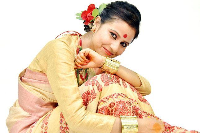 Indian Muga Silk Sarees
