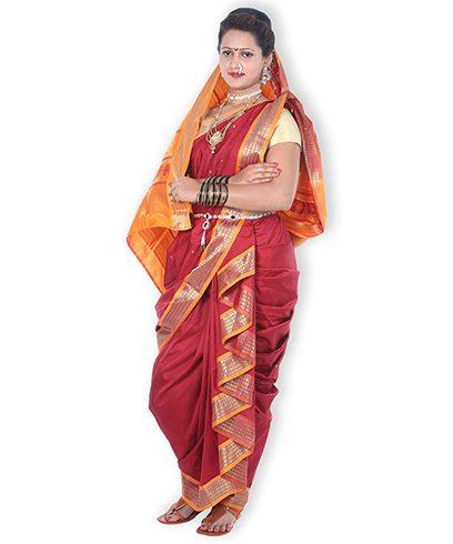 Maharashtrian Nauvari Saree