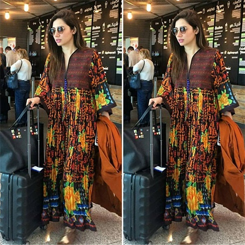 Mahira Khan Snapped At Airport