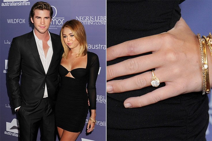 Celebrity Oval Engagement Rings