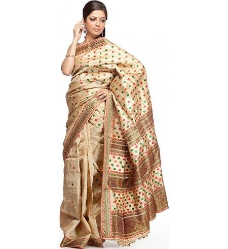 Muga Silk Fabric Fashion